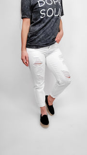 Judy Blue - Destroyed Boyfriend  Jeans (0-24W)