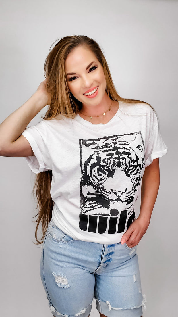 Wild Tiger Graphic Top