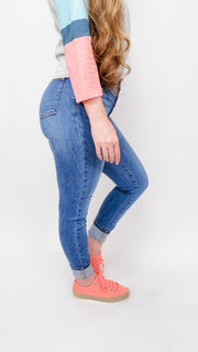 Judy Blue - Hot Mama Button Fly Skinny Jeans (0-24W)