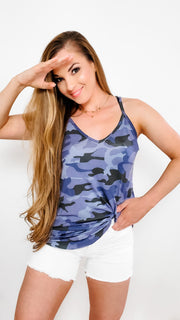 Doorbuster - Camouflage Print Reversible Spaghetti Cami (S-3XL)