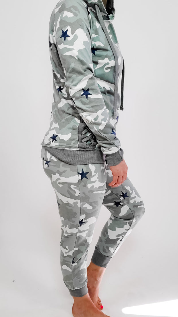 Camouflage Pants with Tie Detail at front- (S-3XL)