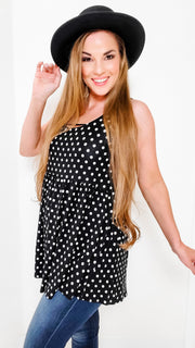 Polka Dot Plus Tunic Top (S-3XL)