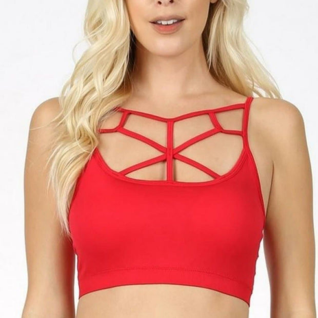 Doorbuster - Seamless Web Detail Front Bralette with Bra Pads (S-3XL)