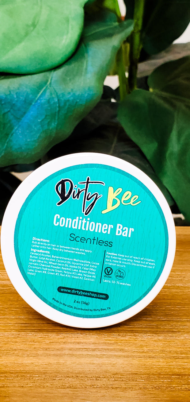 Dirty Bee Shampoo & Conditioner Bar Set with Travel Containers