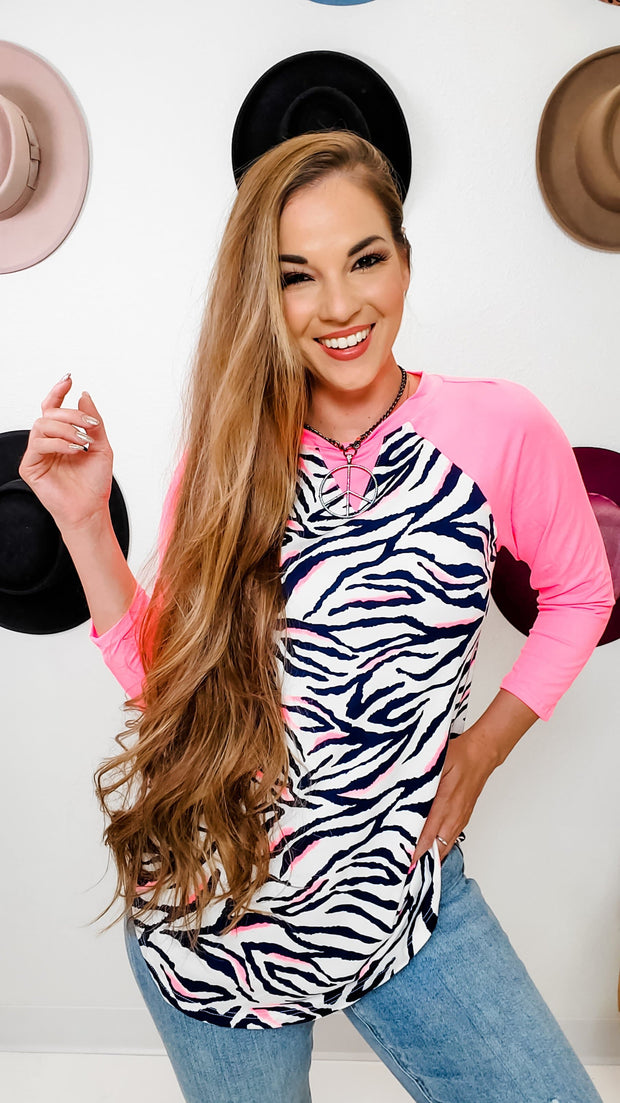 Neon Zebra Fashion Top (S-3XL)