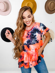 Tie-Dye Printed Jersey Knit Top (S-3XL)
