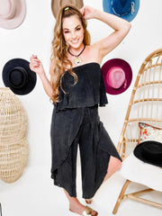 Mineral Washed Ruffle Jumpsuit
