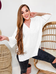 Easel - Double V-Neck Top
