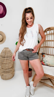 Judy Blue - Olive Patch Pocket Shorts (S-3XL)