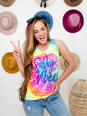 Salty Vibes Tie Dye Graphic Tee (S-3XL)