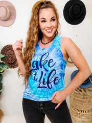 Lake Life Tie Dye Tank Top (S-3XL)