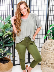 Cargo Pants with Drawstrings and Side Pockets
