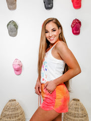 Multi Color Leopard Neon Tank Top