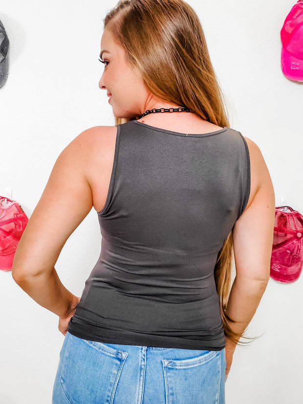 Doorbuster - Scoop Neck Seamless Tank Top (S-3XL)
