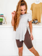 Capri Cropped Active Wear Biker Shorts