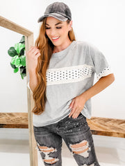 Easel - Short Sleeve Top with Star Stripe