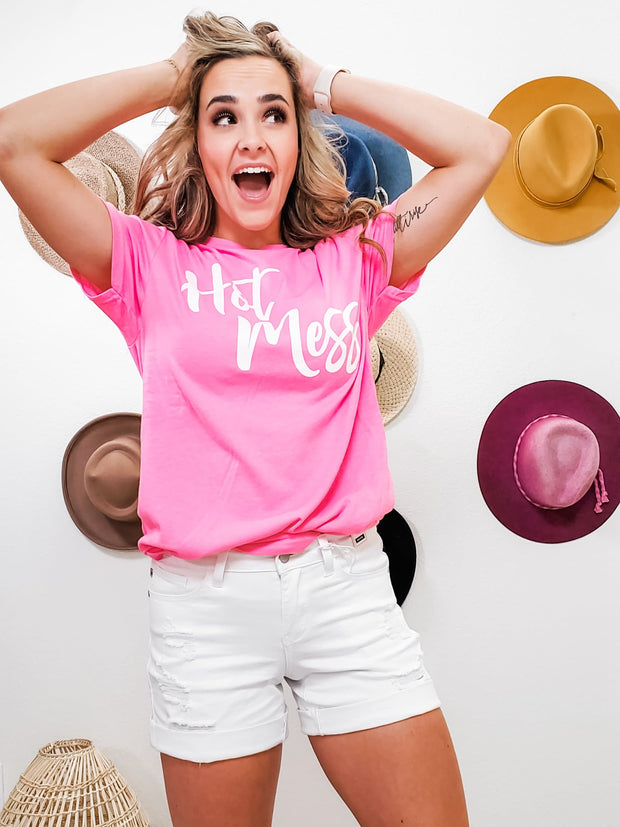Hot Mess Graphic Top (S-3XL)