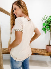 Leopard Detailed Top - (S-3XL)