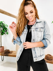 Wishlist's Slightly Distressed Denim Jean Jacket