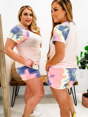 Tie Dye French Terry Lounge Wear Shorts (S-3XL)