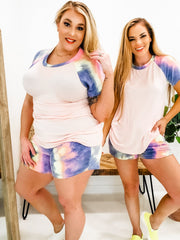 Tie Dye French Terry Lounge Wear Top (S-3XL)