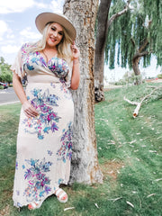 Floral Printed Wrap Maxi Dress (S-3XL)