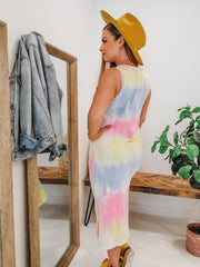 Tie Dye Tank Sleeveless Dress