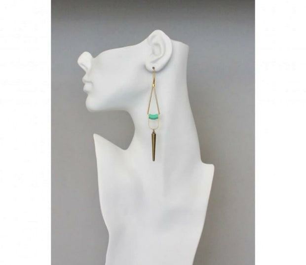 18 Carat Gold Plated Brass Hook and Vinyl Discs Earrings