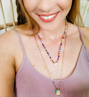Karli Buxton - Rainbow Seed Bead Layer Necklace