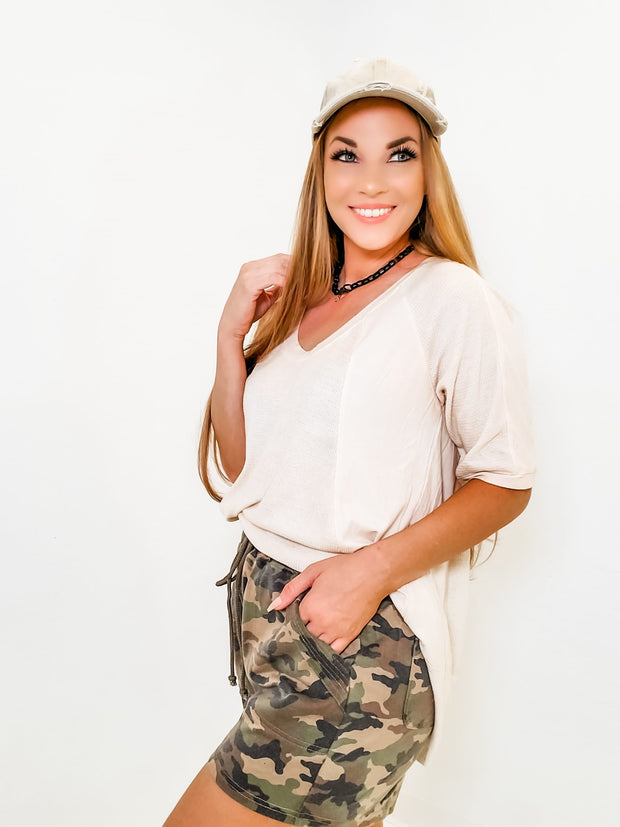 CAMO DRAWSTRING SHORTS(S-3XL)