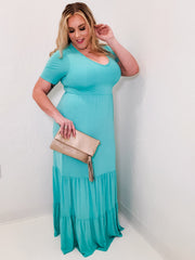 Tiered Maxi Dress (1XL-3XL)
