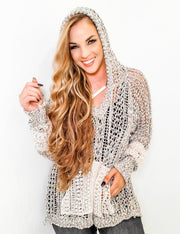 Pol - Fairground Sprinkle Lightweight Sweater with Hoodie