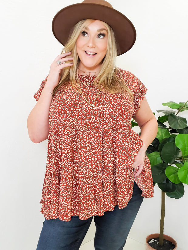 Top with Ruffle Detailing (S-2XL)