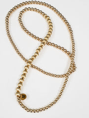 "Mrs. Lila 32"" Mixed Metal Necklace Wrap"