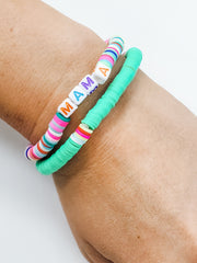 Boujie Bee Bright Beaded Bracelets (Mama)