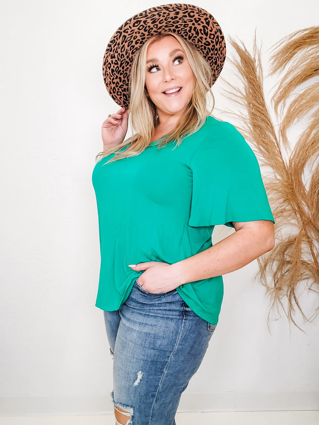 Flutter Sleeve Top (1XL-3XL)