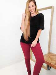 Hyper Stretch Mid-Rise Skinny Jegging Jeans