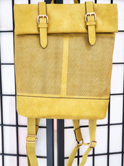 Laser Cut Printed Buckle Flap Backpack