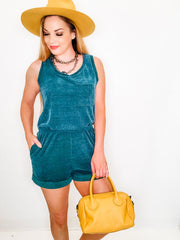 Sleeveless Solid Knit Romper (S-3XL)
