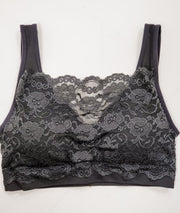 Doorbuster - Seamless Bra Top with Front Lace Cover