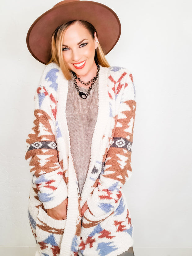 Tribal Print Cardigan (S-2XL)