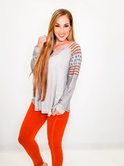 Solid Knit Leggings with Side Pockets  (S-3XL)