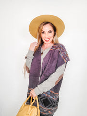 Knit Short Sleeves Open Front Cardigan (S-2XL)