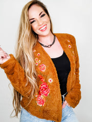 Faux Fur Coat with Beautiful Embroidery Details (S-3XL)