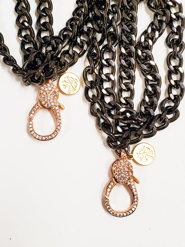 Karli Buxton - Mini Curb Chain With Rose Gold Clasp