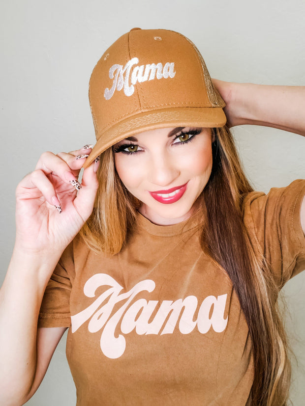 Mama 70's Hat (Embroidered Font)