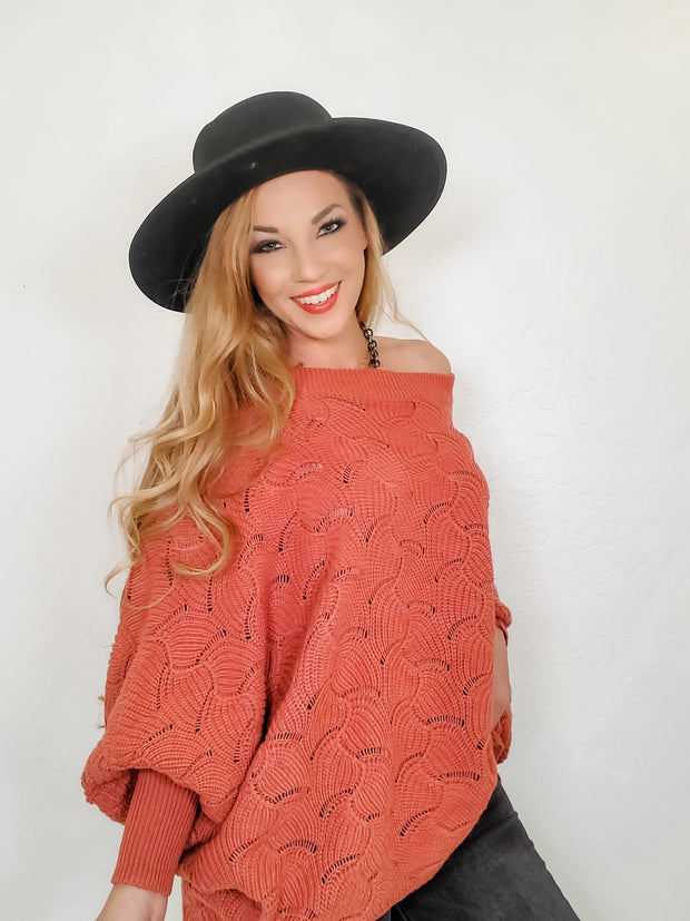 Long Dolman Sleeves Sweater with Oversized Fit (S-3XL)