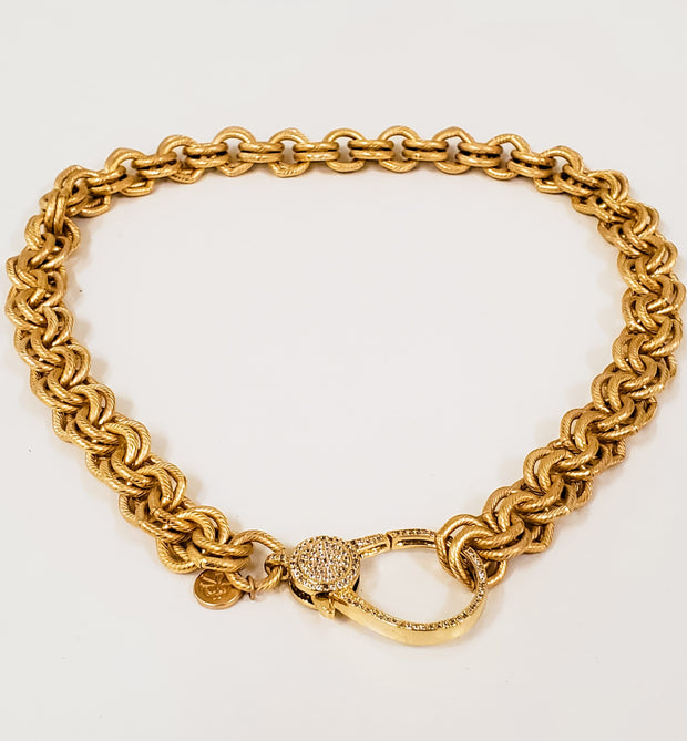 "Karli Buxton - 18"" Gold Double Link Rolo Chain Necklace"