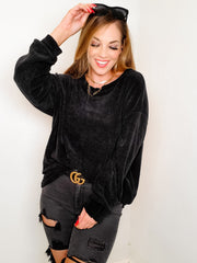 Long Sleeve Comfy Black Sweater (S-3XL)