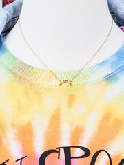 Kikichic - Curved Rainbow Necklace